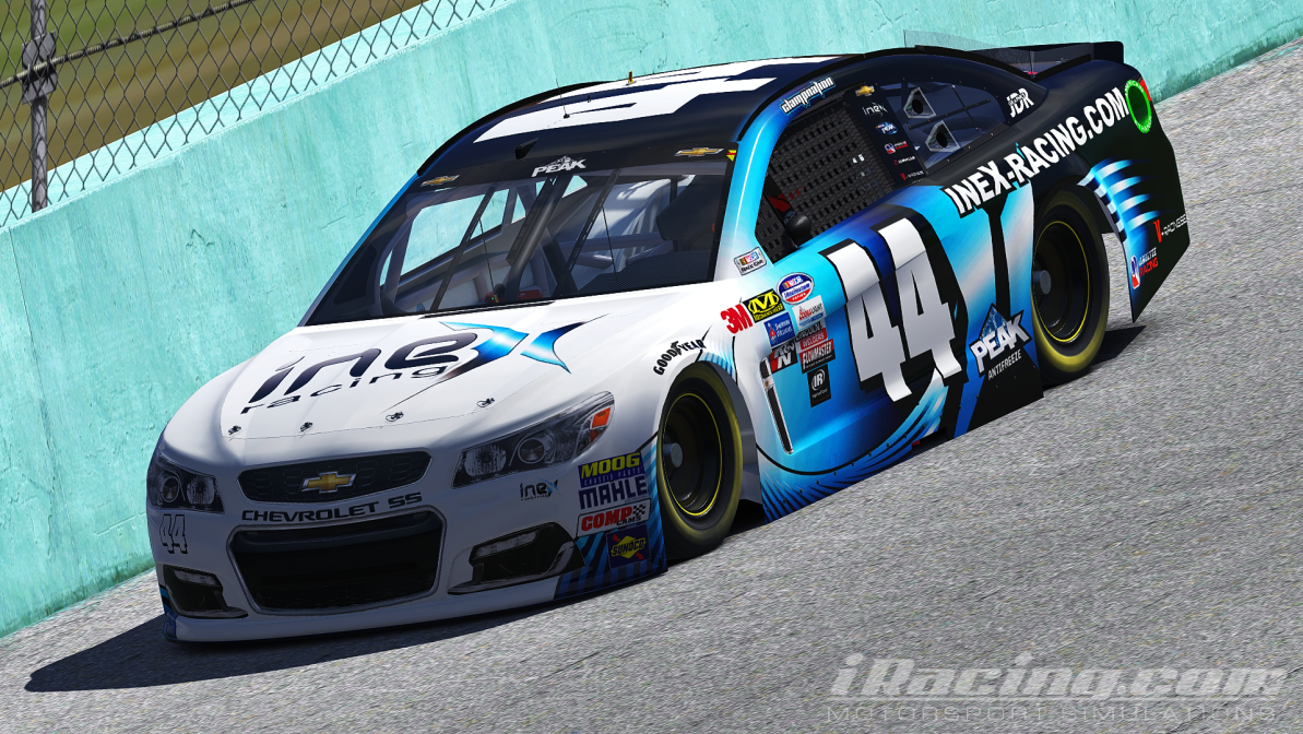 Logan Clampitt finished second in the 2017 iRacing NASCAR Peak Anti-Freeze Series